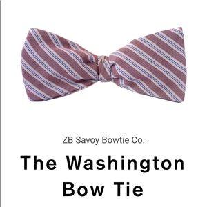 ZB Savoy Red White Blue Striped Patriotic Bow Tie